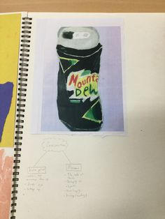 This is a picture of my crash can drawing.