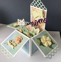 Handmade Card Sending Happy Thoughts Handcolored Card Cute Greeting Card CC Designs Teddy Bear Blue Stripes Encouragement Card