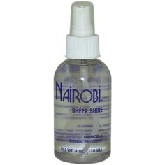 Nairobi Sheer Shine Thermal Protectant for Unisex, 4 Ounce -- Unbelievable  item right here! : Hair Care Styling Products