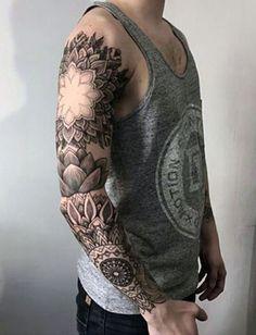 Badass Half Sleeve Tattoos For Men #tattoosformenbadass #tattoosformensleeve