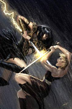 xena warrior princess by *nebezial on deviantART