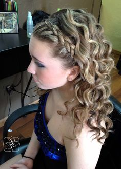 Prom Hairstyle Half Up Half Down Braid Wallpaper
