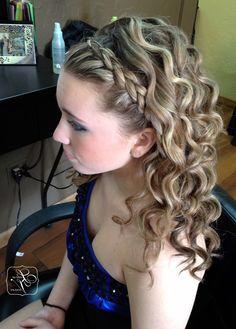 Prom Hairstyle Half Up Half Down Braid Wallpaper