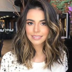 Long Wavy Ash-Brown Balayage - 20 Light Brown Hair Color Ideas for Your New Look - The Trending Hairstyle Brown Ombre Hair, Brown Hair Balayage, Brown Blonde Hair, Ombre Hair Color, Brown Hair Colors, Dark Hair, Partial Balayage Brunettes, Fall Balayage, Blonde Hair To Brunette