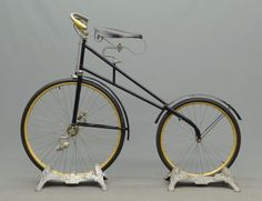 ". 1892 Telegram, patented by Frank H. Bolte, made by Sercombe-Bolte, Mfg Co. Milwaukee, WI. Front wheel driven, 30"" x 24"" diameter wheels. Only known example, restored and rideable."