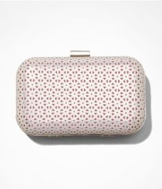 PERFORATED IRIDESCENT HARD CASE CLUTCH | Express - $49.90