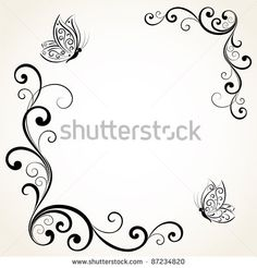 Find abstract floral background with place for your text Stock Images in HD and millions of other royalty-free stock photos, illustrations, and vectors in the Shutterstock collection. Boarder Designs, Frame Border Design, Page Borders Design, Stencil Designs, Rose Stencil, Hand Embroidery Patterns, Peyote Patterns, Cross Stitch Pictures, Borders For Paper