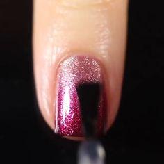 Sparkle Nail Designs, Ombre Nail Designs, Sparkle Nails, Glitter Nail Art, Cool Nail Designs, Nail Art Designs Videos, Nail Art Videos, Make Nails Grow, Ombre Nail Colors