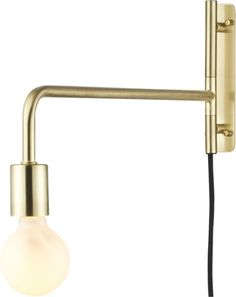 All aglow in brushed brass, this steel construction by Lime Studio works all the light angles with a simple swivel, casting light right where you need it.  Spot a work of art in the entry, or do his/hers in the bedroom for reading.  Single 13W CFL bulb is included in the deal.