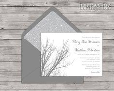 Neutral Gray Invitations. A formal wedding design inspiration