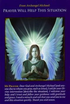 Message from Archangel Michael: Prayer Will Help   Archangel Michael Oracle Cards   Adoration to God   Pinterest   Prayer for help, Messages and Negative ...