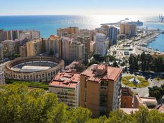 Malaga, Spain. It was a Beautiful, busy city with lots of shopping and beaches....and the bull ring