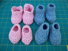 Ravelry: (0-3 MOS) 2 in 1 Baby Bootie Pattern 10 Minute Bootie pattern by Laura Hooker