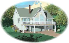 Mountain Home House Plan - 8115  If our land in Charlton goes through, this is my waterfront lake home.  YES, please!!!
