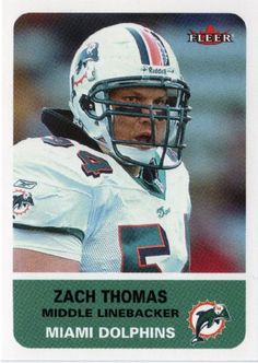 """zach thomas football card 