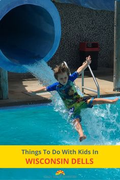 "Indoor and outdoor waterparks, a ""boat"" that drives on land and floats in the river, yummy food, and so much family fun! Things To Do With Kids In Wisconsin Dells!"