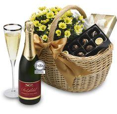 Flowers, Sparkling Wine & Chocolates #Valentines