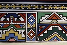 Ndebele house painting, South Africa,