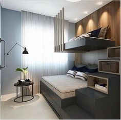 31 bedroom inspirations for your small bedroom or tiny house KP Desig – Bedroom Inspirations Bunk Bed Designs, Small Bedroom Designs, Small Room Design, Home Room Design, Tiny Bedroom Design, Modern Kids Bedroom, Small Room Bedroom, Home Bedroom, Bedrooms