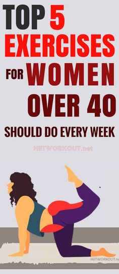 This Top 5 Exercises For Women Over 40 Should Do Every Week. #womensworkout #workout #femalefitness #exercises #homeworkoutplan #weightlossworkout #workoutplan