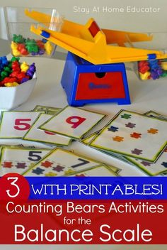 Balancing Scale and Counting Bears Printable Activities