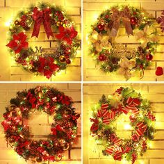 Dedicated Christmas Handmade Rattan Garland Door Hangings Decoration Photography Props Ornaments Party Supplies Home Decor Event & Party