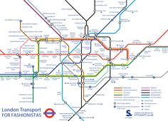Alternative #Tube map - #London #fashion