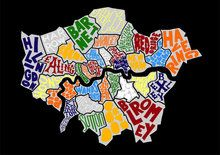 London Borough Map £55 Framed (40cm x 50cm)  £80 Framed (50cm x 70cm)