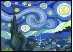 Van Gogh Starry Night Mural Art Project