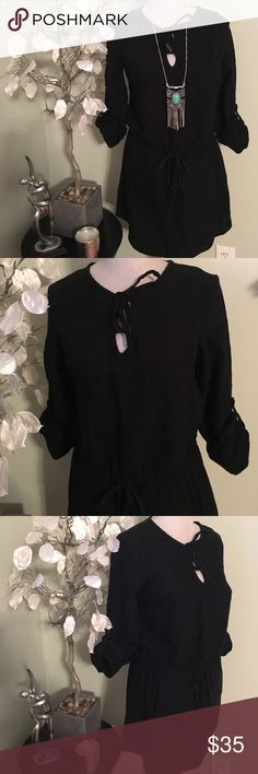 "LOU & GREY DRESS Gorgeous dress in perfect condition, 100% cotton , length 33"" , adjustable waist Lou & Grey Dresses Mini"