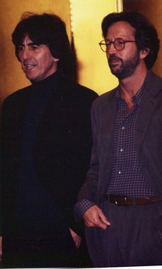 George Harrison and Eric Clapton