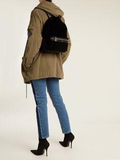 City velvet backpack by Saint Laurent
