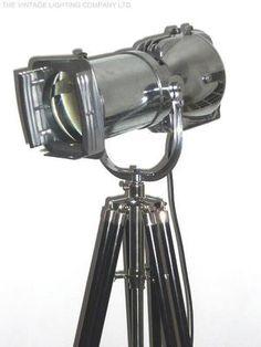 Vintage Movie Light Industrial Design Lamp Retro Alessi Theatre Art Deco 1950s | eBay