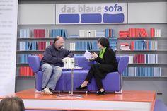 Andrej Kurkow auf dem Blauen Sofa der LBM 2012 by Das blaue Sofa, via Flickr Sofa, Home Decor, Pictures, Time Travel, Blue, Settee, Decoration Home, Room Decor, Couch