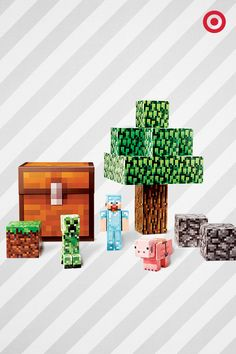 Kids love to build and create. This easy-to-build Minecraft Overworld Deluxe Set gets them on the block-building path. Makes a great gift for Minecraft maniacs.