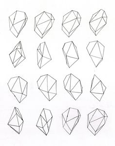 Geometric illustration -- to draw over watercolor instead of flowers - fronts of chairs