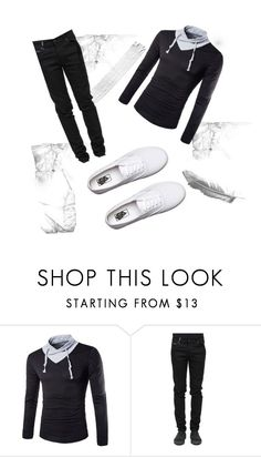 """""""Untitled #12"""" by almir1010 ❤ liked on Polyvore featuring County Of Milan, Vans, men's fashion and menswear"""