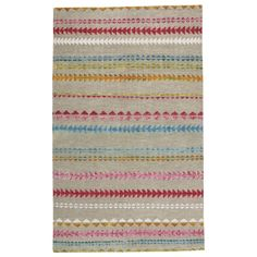 Genevieve Gorder Scandinavian Stripe Multi Rectangle Hand Knotted Rugs