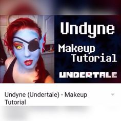 Undyne makeup tutorial is up on YouTube! Link to my YouTube channel in bio! # #undertale #undertalemakeup #undynecosplay #undyne #undynemakeup #cosplay #makeup #fish #mermaid #mermaidmakeup #makeuptutorial #cosplaytutorial #undertaleundyne