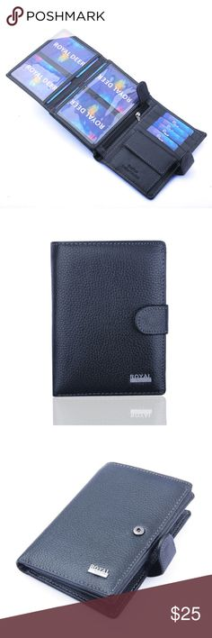 """New Style Genuine Leather Card Holder Material: Genuine leather Size: 5.7"""" x 3.9"""" x 0.6"""" One photo slot, 1 ID card slot, 1 License card slot, 8 card slots, 2 cash slots, etc Bags Wallets"""