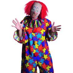 Cette perruque / cagoule de clown démonique sera parfaite pour vous transformer pour halloween.  La cagoule dans le style collant permet de métamorphoser votre visage!  La perruque a pour rôle de modifier l'aspect général de votre crâne! Ce masque avec ch