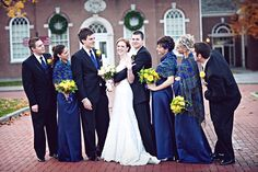 Navy & Gold Wedding Inspiration // Mishelle Lamarand Photography via Wedding Chicks