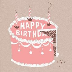 88 best birthday graphics images on pinterest happy brithday vintage birthday cake print m4hsunfo