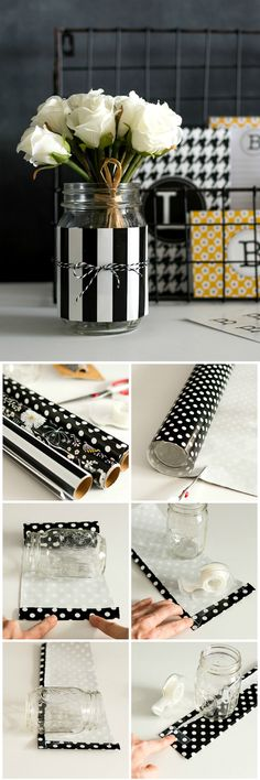 Mason Jar Desk Organizers - Get Organized with Pretty Mason Jars - Easy Mason Jar Craft Idea @www.itallstartedwithpaint.com