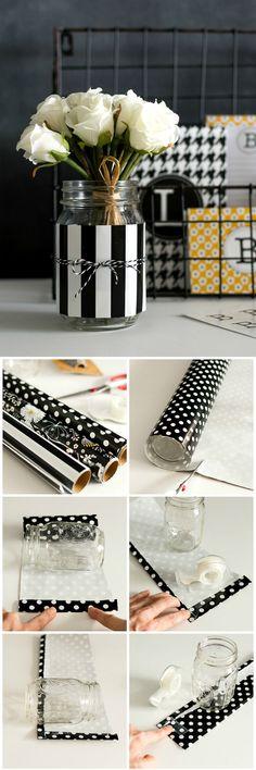 Mason Jar Desk Organizers - Get Organized with Pretty Mason Jars - Easy Mason Jar Craft Idea @www.itallstartedwithpaint.com