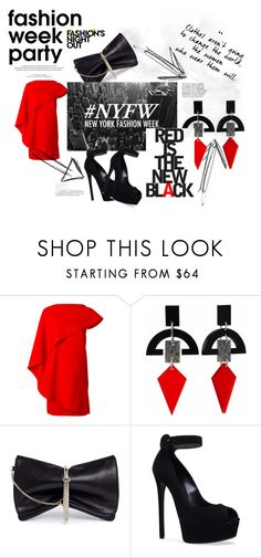 """""""Put On Your Red Shoes And Let's Dance"""" by fashion365nylmp ❤ liked on Polyvore featuring Givenchy, Toolally, Jimmy Choo, Casadei, Fashion's Night Out, BLVD Supply, NYFW, davidbowie, afterparty and catwalknightlife"""
