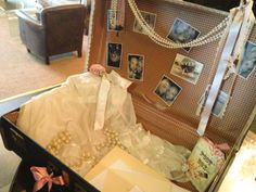 Vintage suitcase wedding table plan and post box  email: info@brideslittlehelper.co.uk