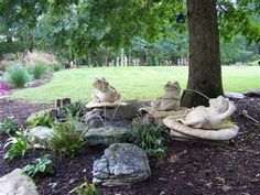 Three Lazy Frogs Fountain, Bring a touch of Whimsy into your Garden. This is such a fun fountain and a great conversation piece.