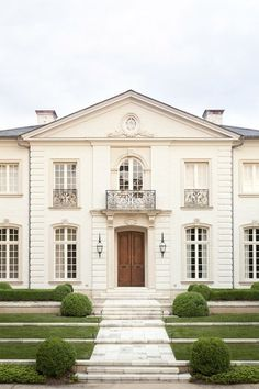 CURB APPEAL – another great example of beautiful design. The Exquisite Home.