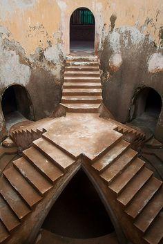 Sumur Gumuling is an underground mosque at the Taman Sari water palace. Yogyakarta, Java, Indonesia.